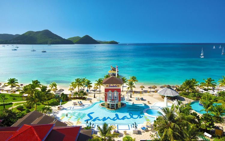 All inclusive Sandals holidays for two in the Caribbean