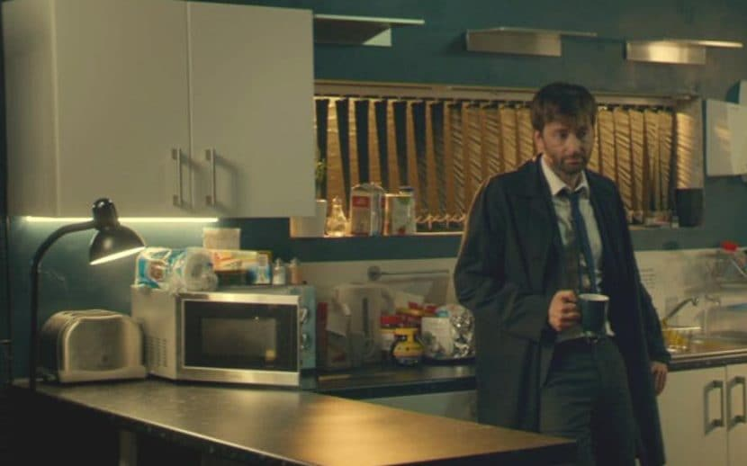 Trouble brewing: David Tennant shocks millions by putting tea in a microwave on Broadchurch