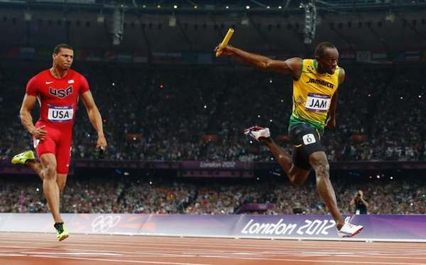 Usain Bolt and the Jamaican relay team: the quickest 4x100 ...