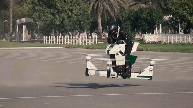 Dubai Police Test Out Hovering Motorbikes To Join Future
