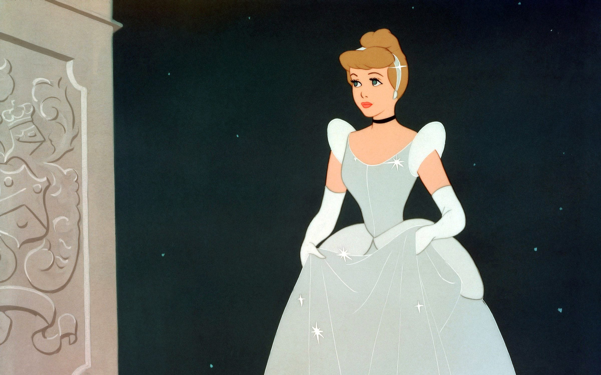 Cinderella is rescued from a life of servitude and housework by marrying the prince