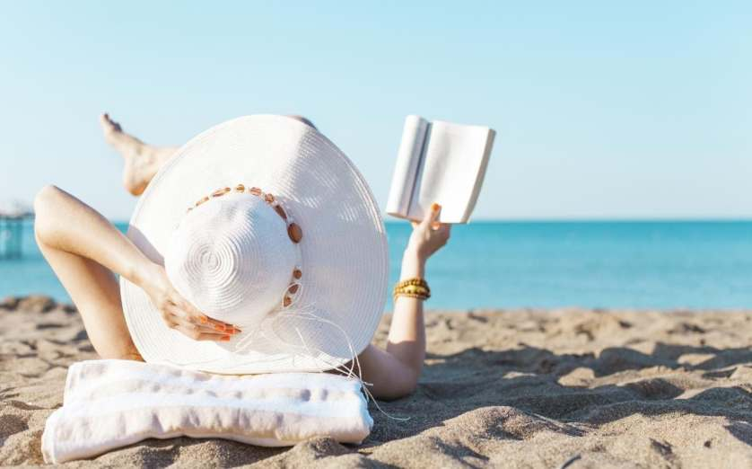 Image result for Reading material at beach
