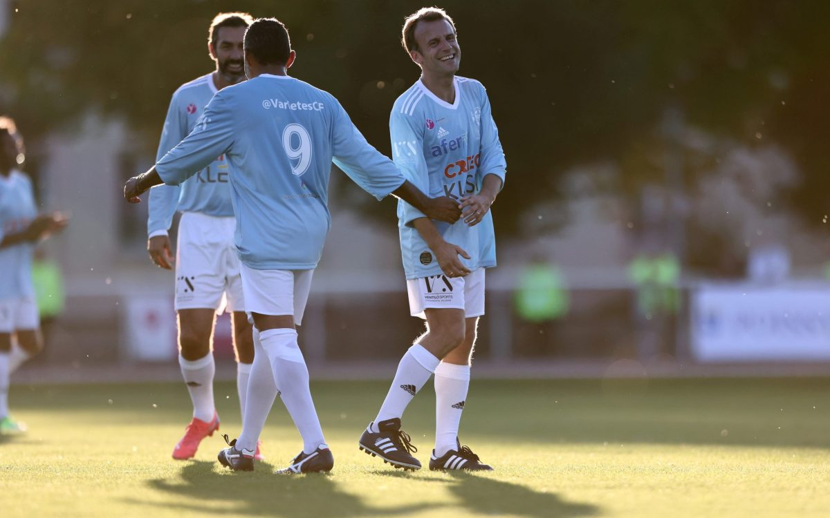 , Macron of the match: French president dons football kit in charity game, The Evepost BBC News
