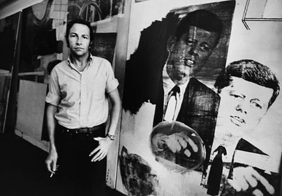 Robert Rauschenberg in his studio in 1967