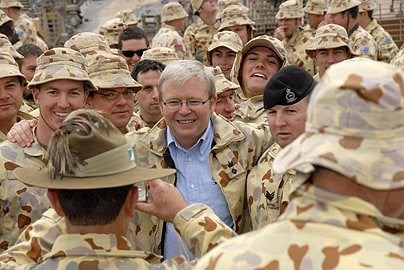 Prime Minister Kevin Rudd has pulled the country's troops out of Iraq