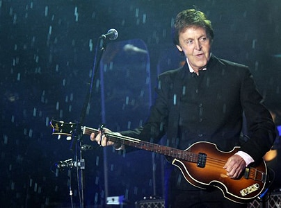 Paul McCartney braves bad weather to play his first show in Ukraine