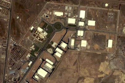 A satellite image of Iran's Natanz uranium enrichment facility