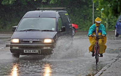 Heavy rain has fallen in Devon, with games at Appledore and Bideford being cancelled.
