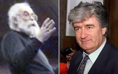 Radovan Karadzic in disguise