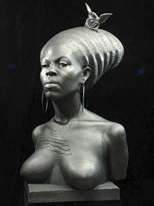 Sculpture of Michelle Obama