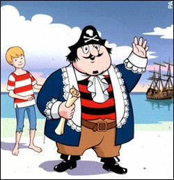 Captain Pugwash with Tom the Cabin Boy