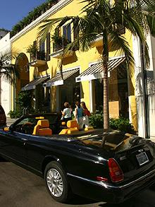 Close to upmarket Rodeo Drive lie the shops of the pawnbrokers to the stars which have been busy as the financial crisis deepens.