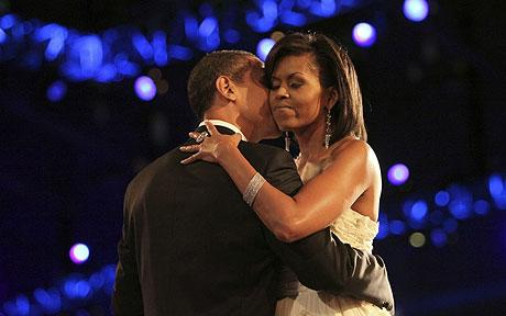 The first couple on inauguration night