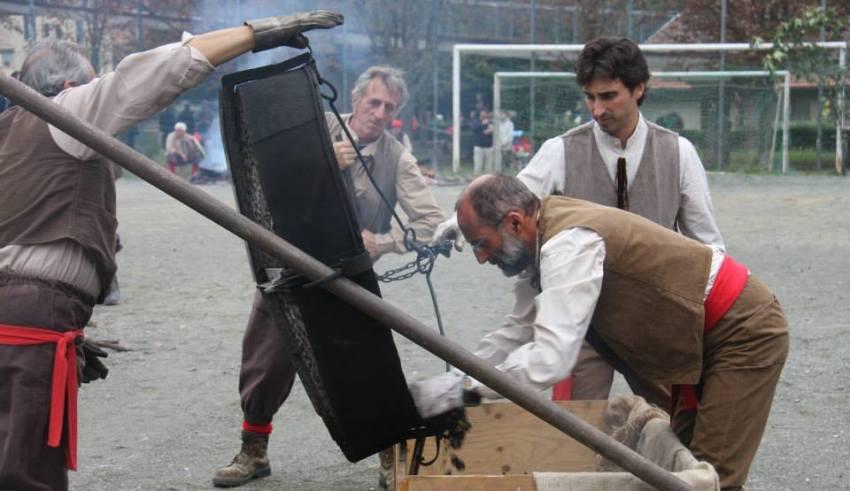 Foto di gruppo - Treno d'epoca alla XX Expo di Rossiglione - Foto di Gianni Ottonello