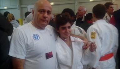 Sara D'Agostino con il suo tecnico Franco Benotti