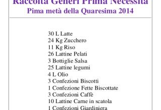 Raccolta alimentare 2014