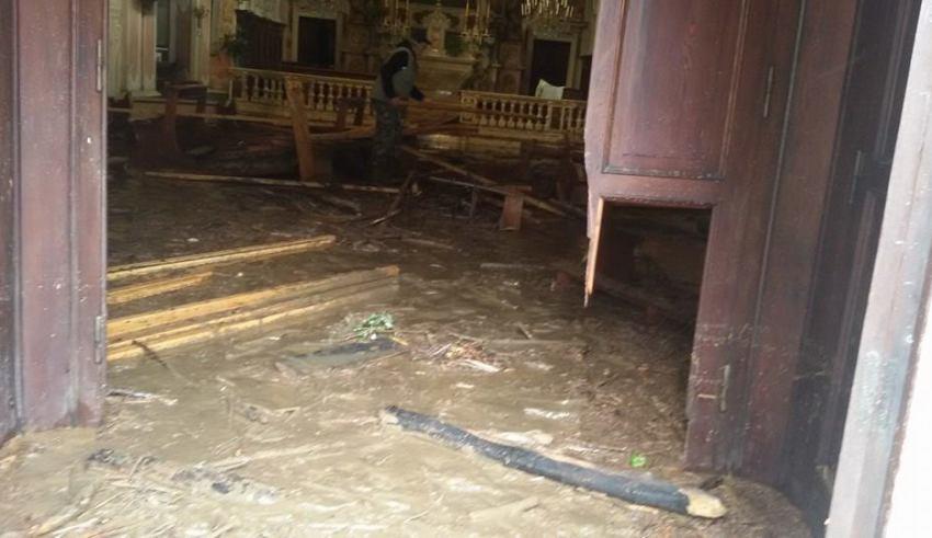 Alluvione a Campo Ligure 11 ottobre 2014 -Oratorio s.Sebastiano e Rocco
