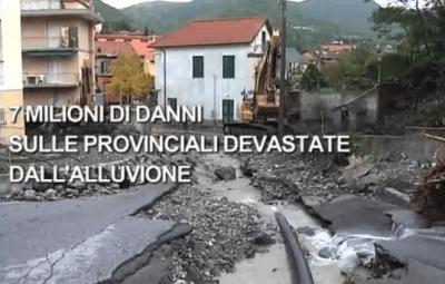 video alluvione provincia di genova