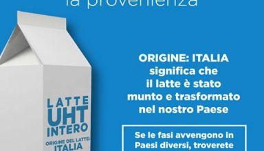 nuova etichettatura latte