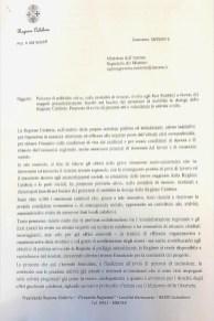 NOTA INVIATA AL MINISTERO DELL'INTERNO IN DATA 08.03.2019 -PRIMA PAGINA-