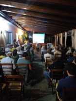 4 - il pubblico degli invitati alla presentazione del film di Imelda Bonato su Badolato - 27 agosto 2019 agriturismo Zangarsa