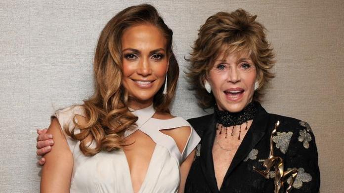 Jennifer Lopez y Jane Fonda 2011