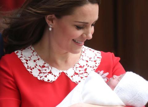 Kate Middleton con su tercer hijo