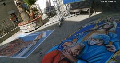 Nicosia celebra la Madonna dell'Aiuto e il terzo concorso dei Madonnari di Sicilia – FOTO e VIDEO
