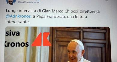 "Papa Francesco all'Adnkronos, Salvini: ""Lettura interessante"""