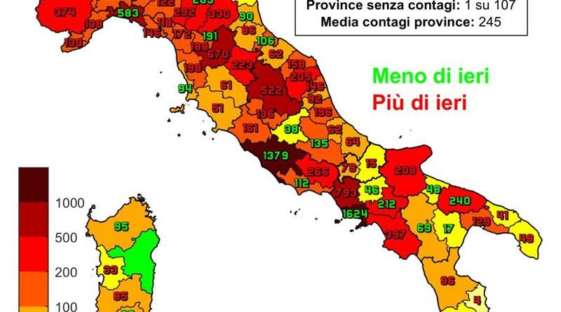 Coronavirus. In Italia il 29 ottobre nelle ultime 24 ore nuovi contagi sono 26.831, i decessi sono 217