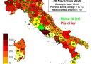 Coronavirus. In Italia il 29 novembre nelle ultime 24 ore i nuovi contagi sono 20.648, i decessi sono 541