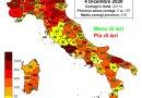 Coronavirus. In Italia il 4 dicembre nelle ultime 24 ore i nuovi contagi sono 24.099, i decessi sono 814