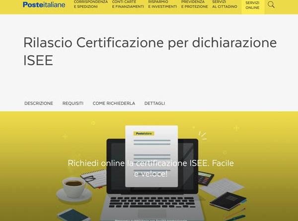 Poste italiane: disponibili online per i cittadini siciliani  i dati 2019 per la richiesta dell'Isee
