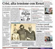 Quotidiani Nazionali      Prime pagine di oggi | Giovedì 28 Gennaio 2021