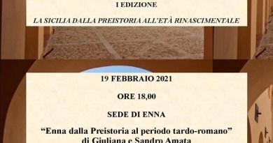 """SiciliAntica Enna, venerdì 19 febbraio videoconferenza """"La Sicilia dalla Preistoria all'età Rinascimentale"""""""