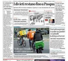 Prime pagine dei giornali di oggi            Rassegna Stampa | Giovedì 25 Febbraio 2021