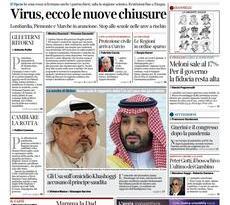 Prime pagine dei giornali di oggi            Rassegna Stampa | Sabato 27 Febbraio 2021