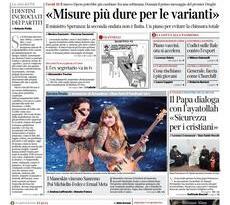 Prime pagine dei giornali di oggi            Rassegna Stampa | Domenica  7 Marzo 2021