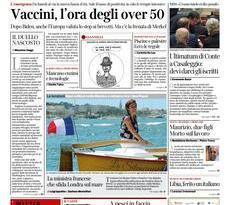 Prime pagine dei giornali di oggi         Venerdì  7 Maggio 2021   Rassegna Stampa Quotidiani