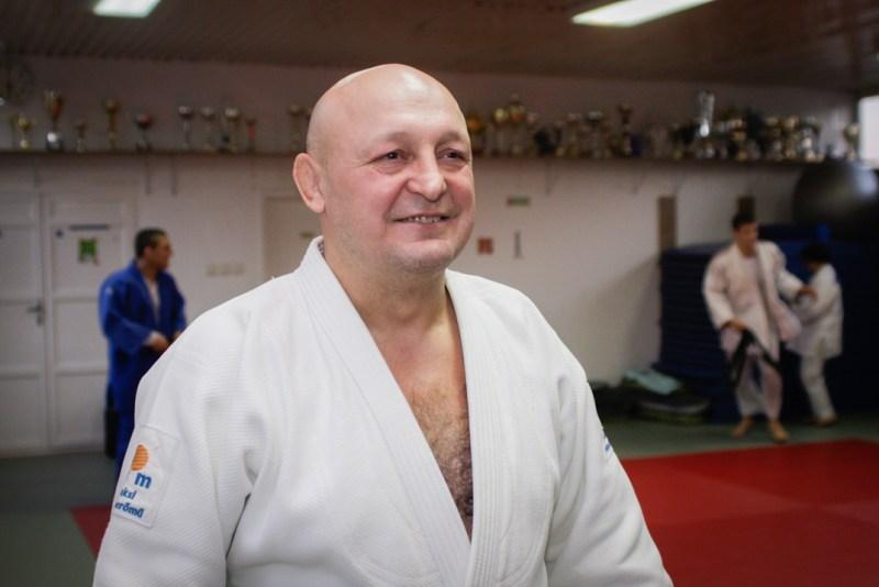 Hangyási László, az ASE dzsúdó szakosztály vezetőedzője. Fotó: Szaffenauer Ferenc/Paksi Hírnök