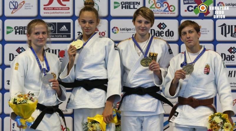 Pupp Réka bronzérmes Malagában. Fotó: European Judo Union