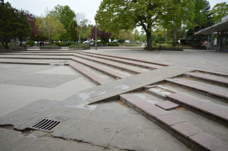 A lakótelepi központi park egy része. Fotó: Szaffenauer Ferenc/Paksi Hírnök