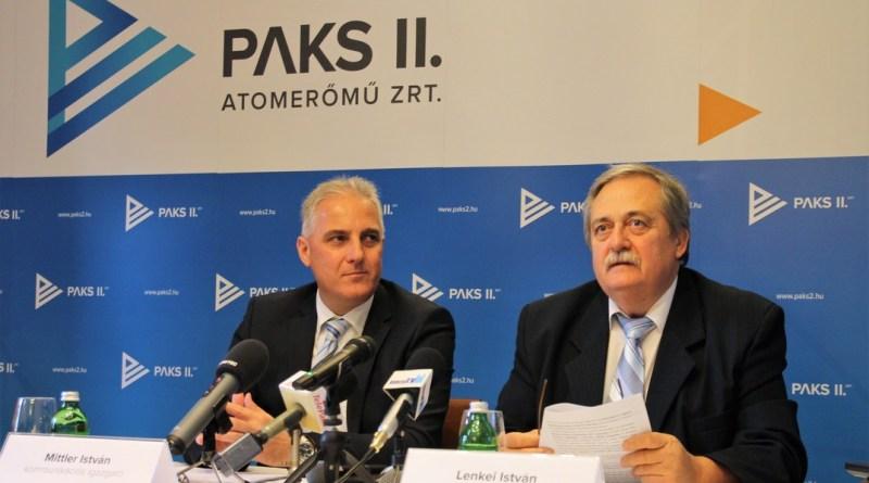 Lenkei István (jobbról) és Mittler István a sajtótájékoztatón. Fotó: Vida Tünde