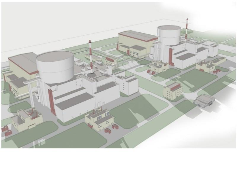 Az új blokkok látványterve. Forrás: Paks II. Atomerőmű Zrt.