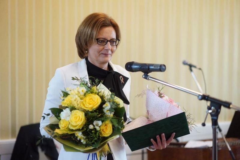 Dallos Szilvia az Urántoll 2018-as kitüntetettje. Fotó: Babai István