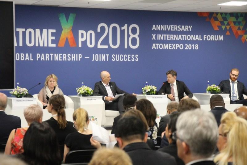 Aszódi Attila államtitkár az Atomexpo 2018 nemzetközi fórumon. Fotó: Vida Tünde
