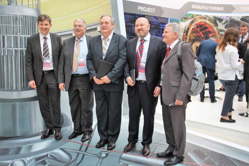 A Paks II. Atomerőmű Zrt. delegációjának tagjai az Atomexpo 2018-on. Fotó: Vida Tünde