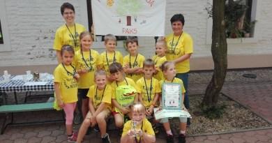 A győztes csapat. Fotó: az óvoda felvétele