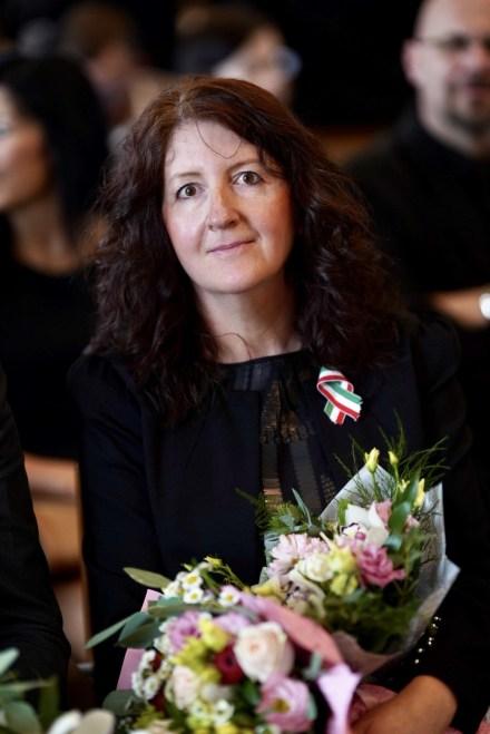 Susán Janka, az Atomtoll díj idei kitüntetettje. Fotó: Babai István