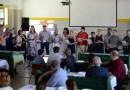 Az iskolában dolgozókból alakult kórus is fellépett az ünnepi délutánon. Fotó: Szaffenauer Ferenc/Paksi Hírnök